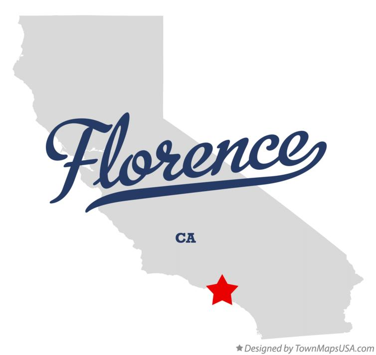 Map of Florence California CA