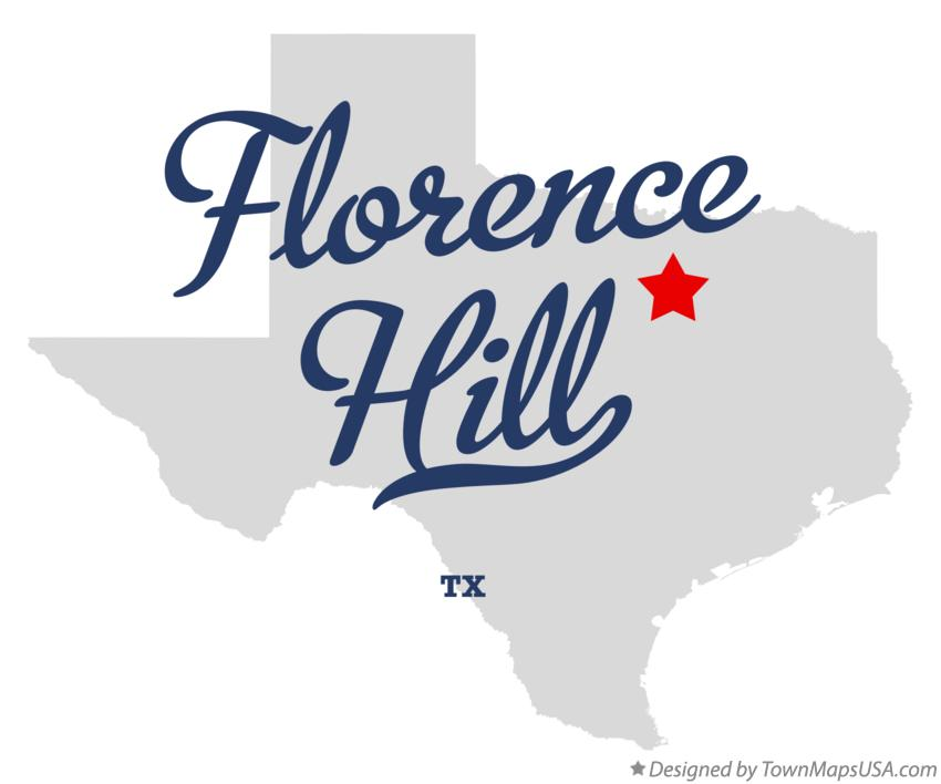Map of Florence Hill Texas TX