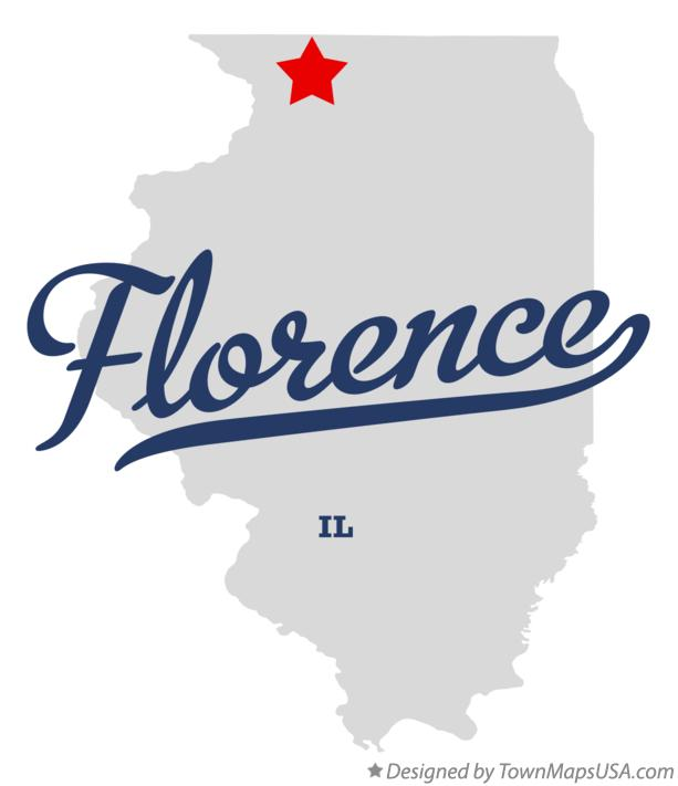 Map of Florence Illinois IL
