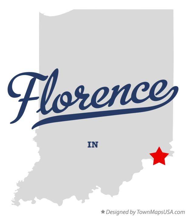 Map of Florence Indiana IN