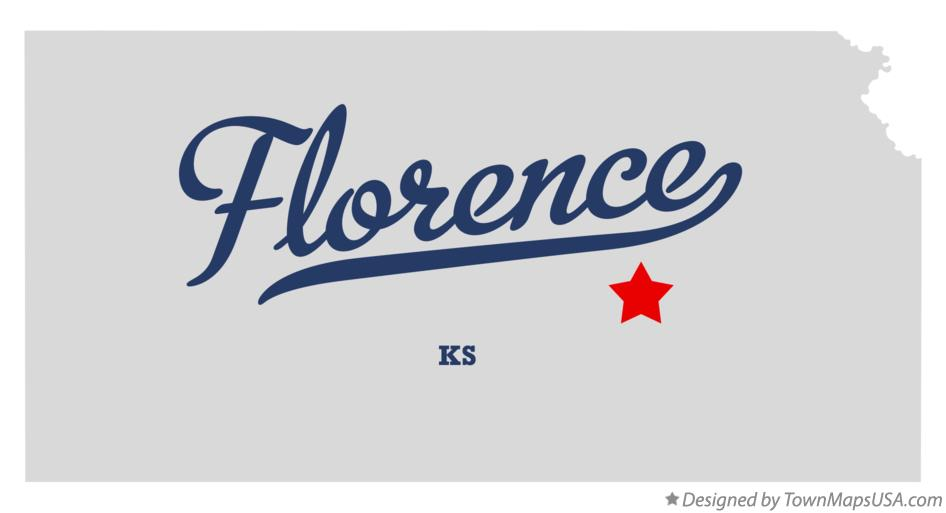 Map of Florence Kansas KS