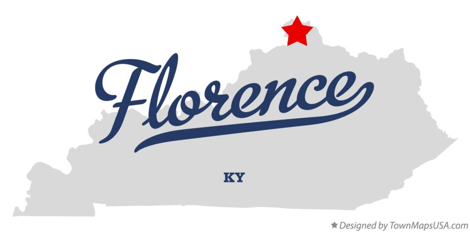 Map of Florence Kentucky KY