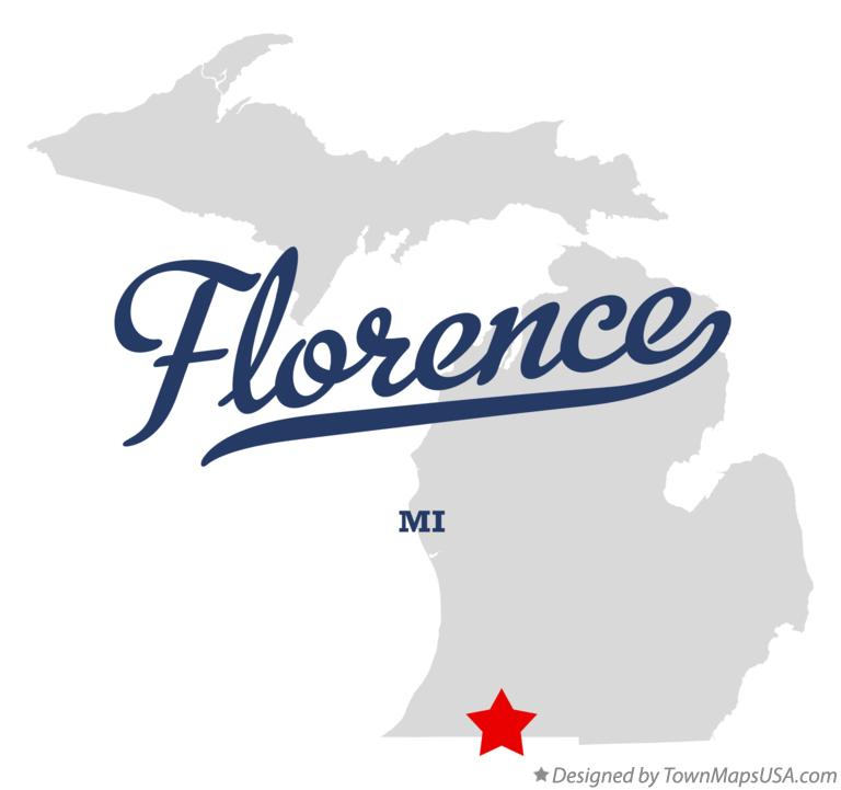 Map of Florence Michigan MI