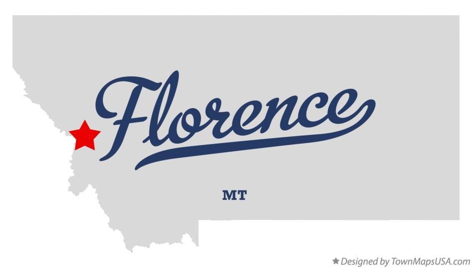 Map of Florence Montana MT