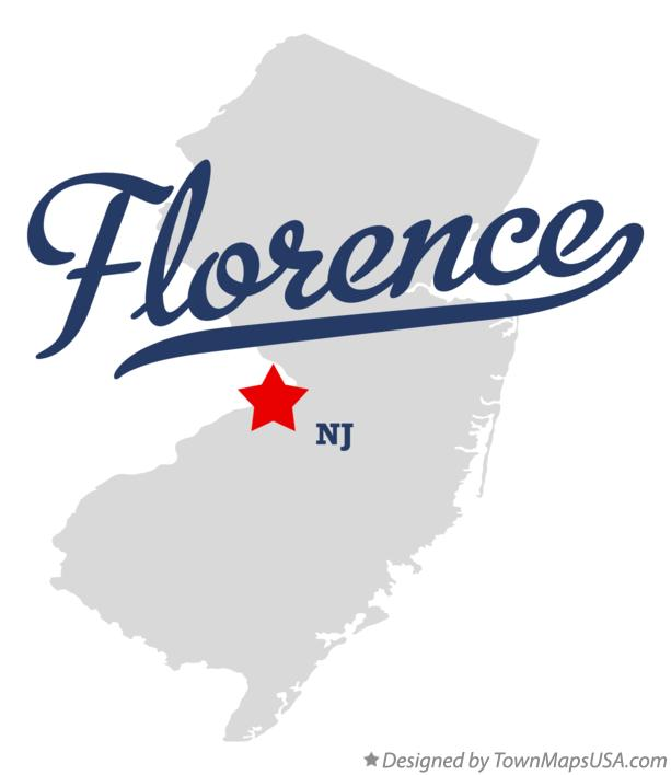 Map of Florence New Jersey NJ