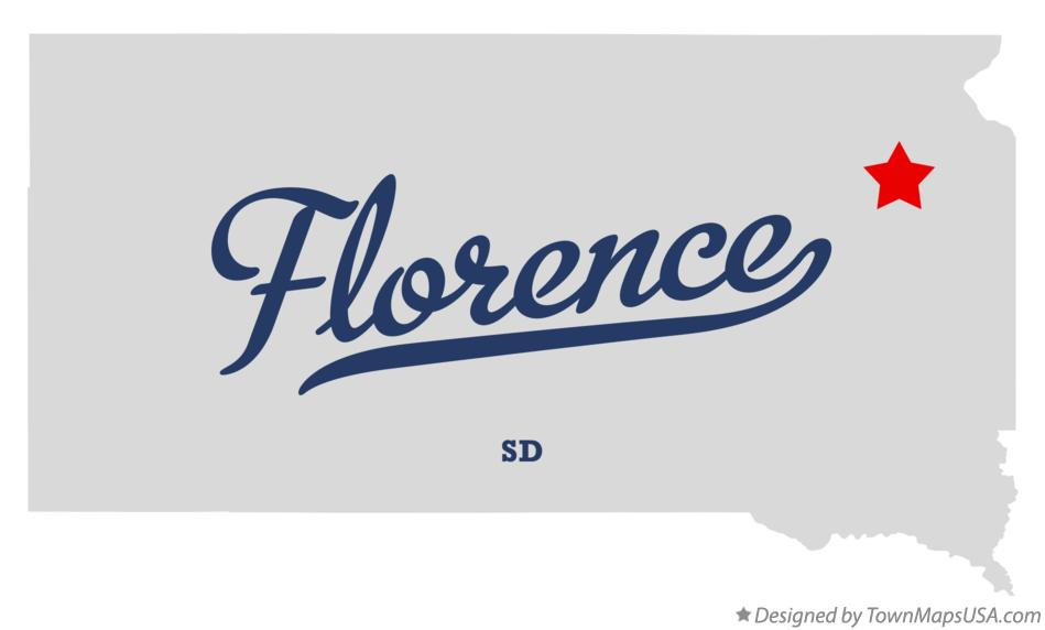 Map of Florence South Dakota SD