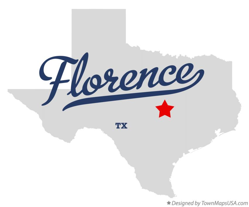 Map of Florence Texas TX