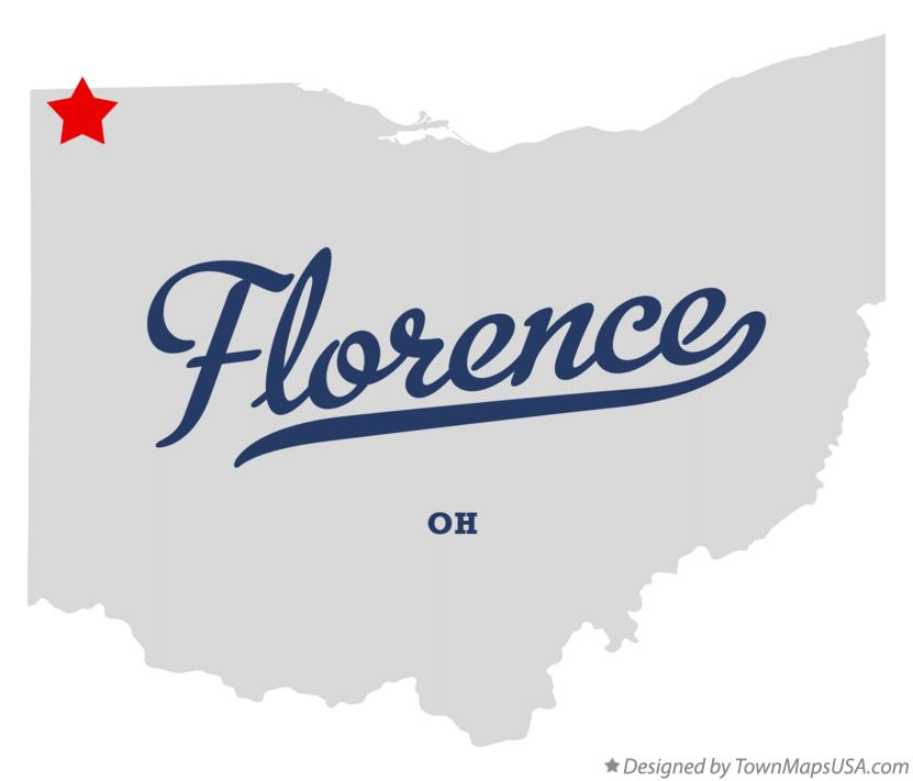 Map of Florence Ohio OH