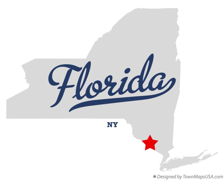 Map of Florida New York NY