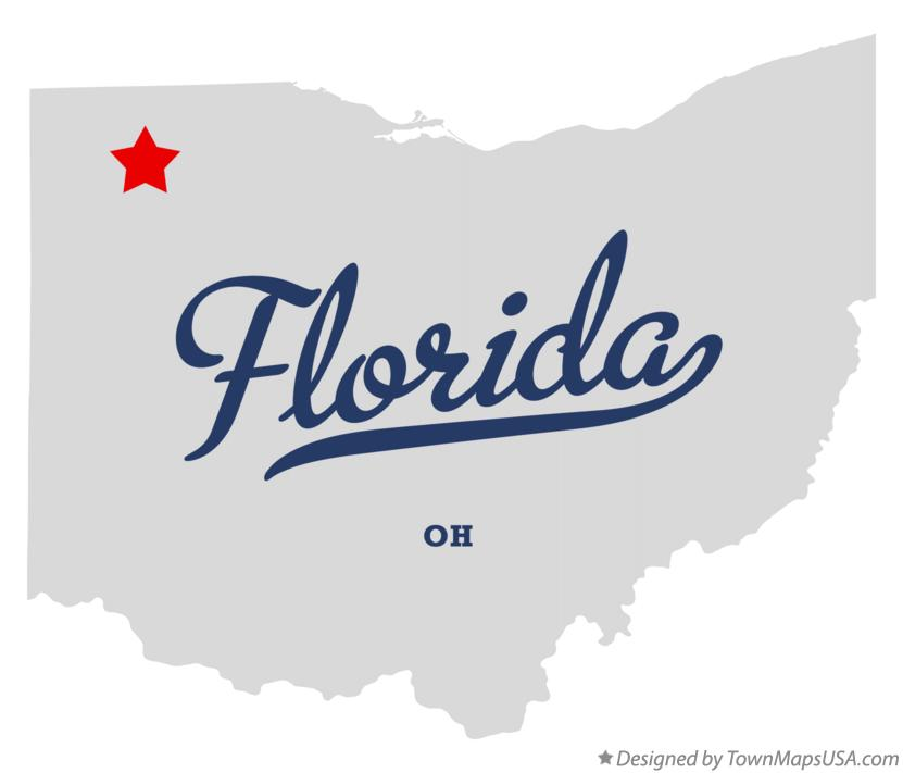 Map of Florida Ohio OH
