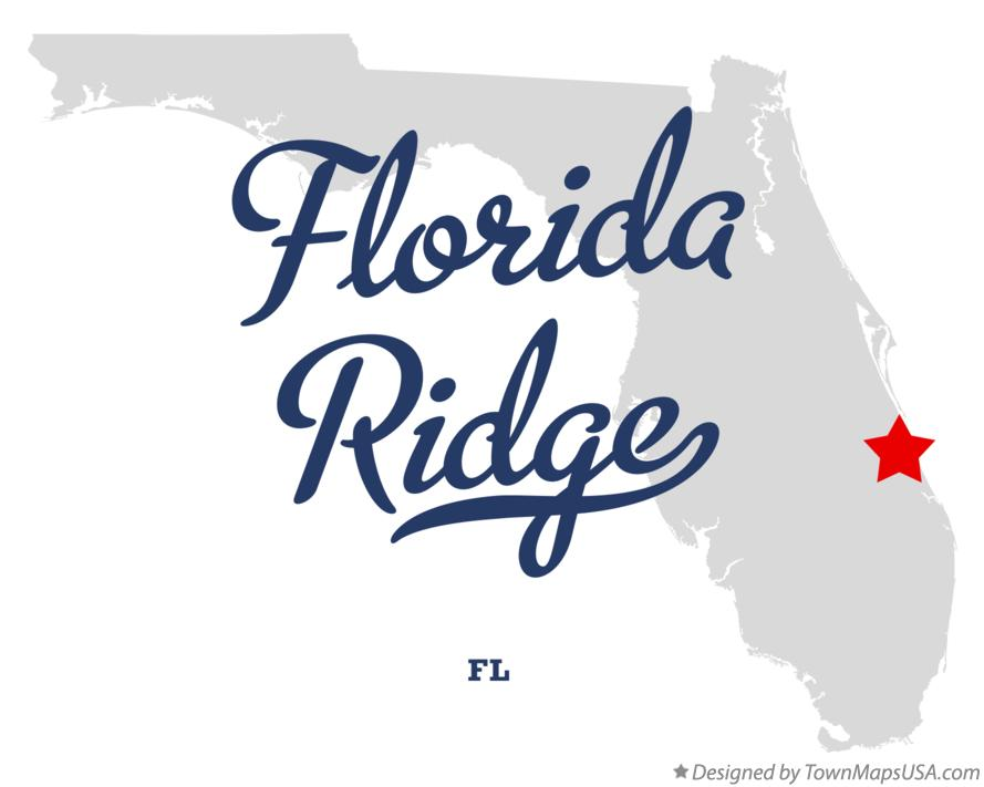 Map of Florida Ridge Florida FL