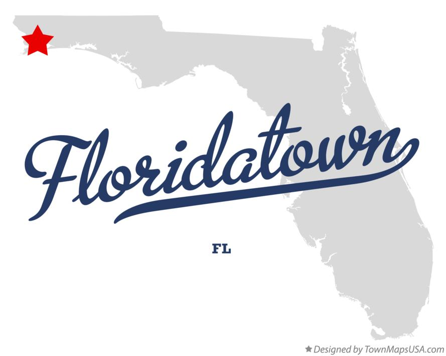 Map of Floridatown Florida FL