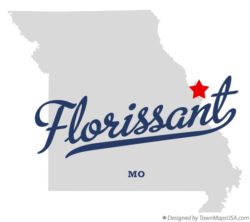 Map of Florissant Missouri MO