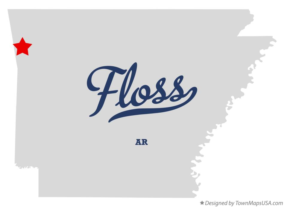 Map of Floss Arkansas AR