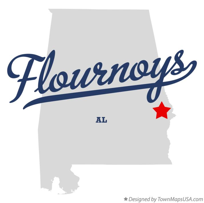 Map of Flournoys Alabama AL