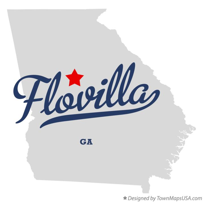 Map of Flovilla Georgia GA