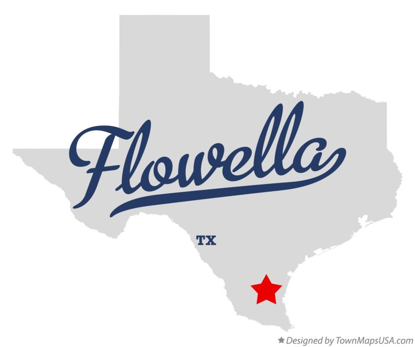Map of Flowella Texas TX