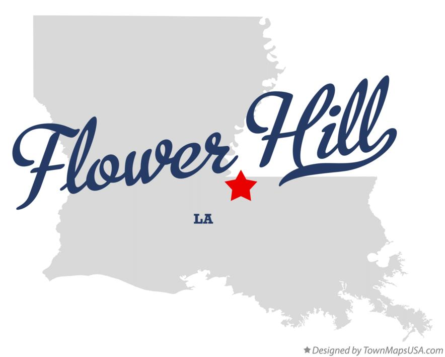 Map of Flower Hill Louisiana LA