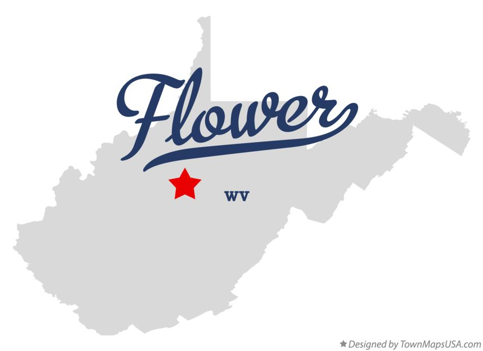 Map of Flower West Virginia WV