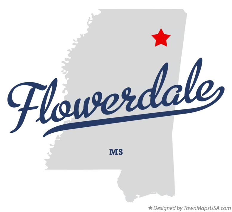 Map of Flowerdale Mississippi MS