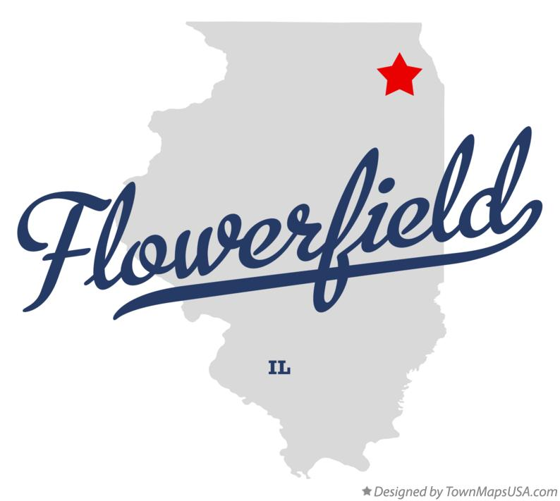 Map of Flowerfield Illinois IL