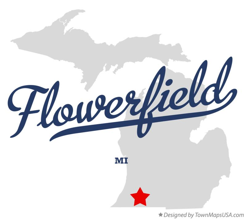 Map of Flowerfield Michigan MI