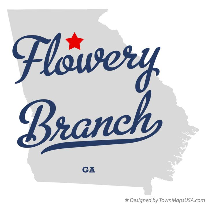 Map of Flowery Branch Georgia GA