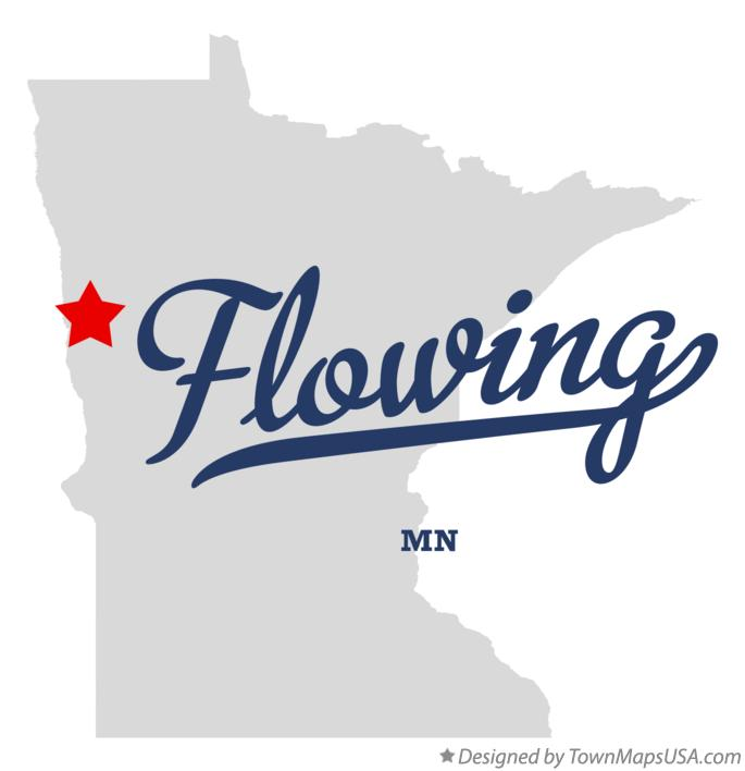 Map of Flowing Minnesota MN
