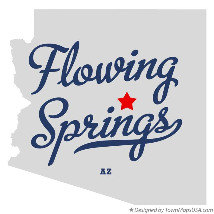 Map of Flowing Springs Arizona AZ