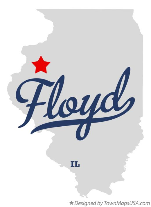Map of Floyd Illinois IL