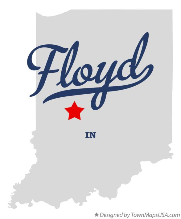 Map of Floyd Indiana IN