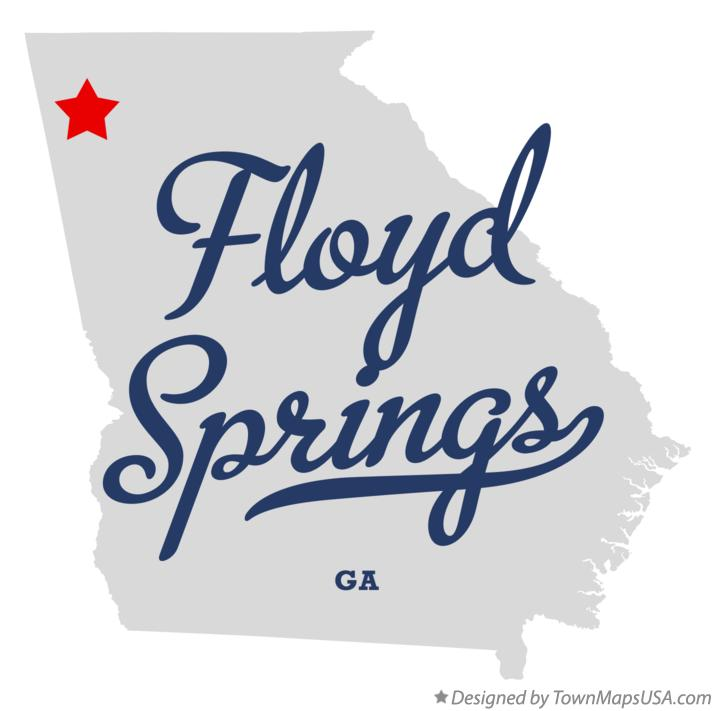 Map of Floyd Springs Georgia GA