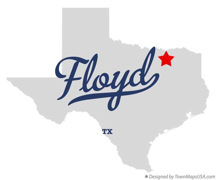 Map of Floyd Texas TX