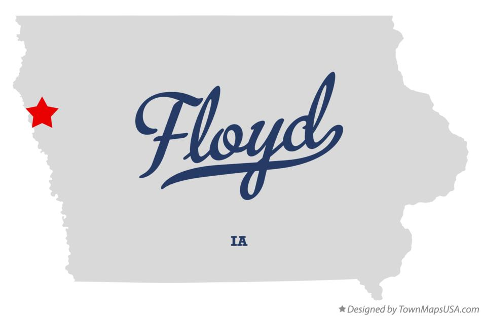 Map of Floyd Iowa IA