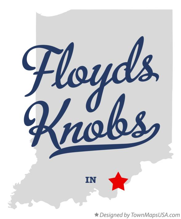 Map of Floyds Knobs Indiana IN