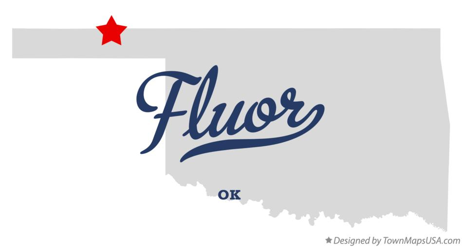 Map of Fluor Oklahoma OK