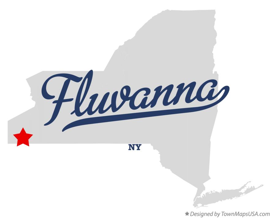 Map of Fluvanna New York NY