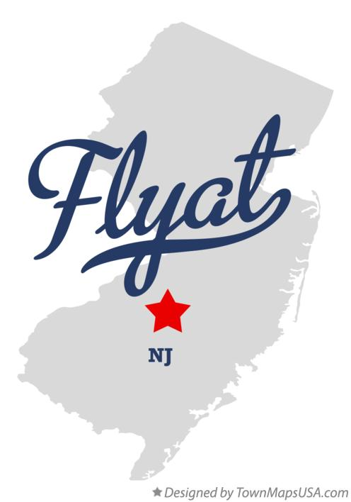 Map of Flyat New Jersey NJ