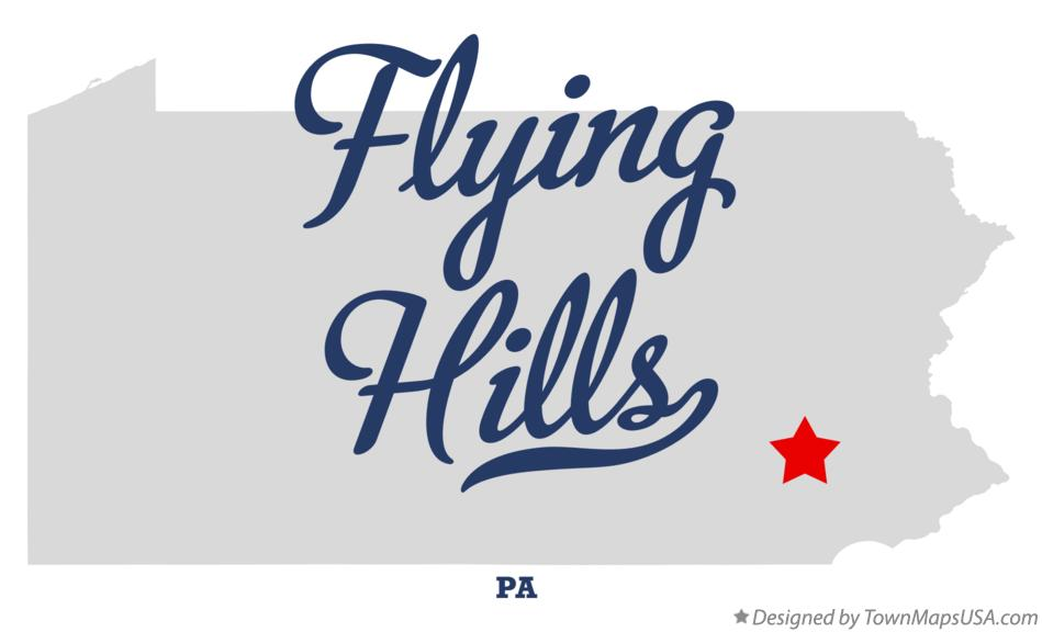 Map of Flying Hills Pennsylvania PA