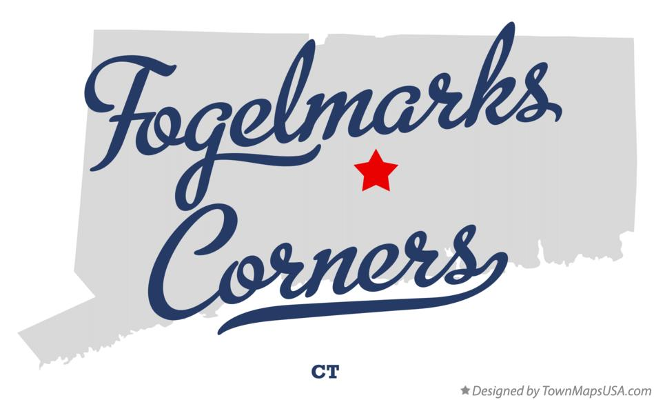 Map of Fogelmarks Corners Connecticut CT