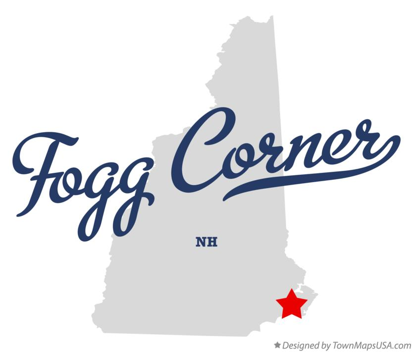 Map of Fogg Corner New Hampshire NH
