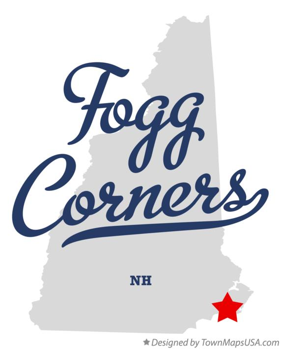 Map of Fogg Corners New Hampshire NH