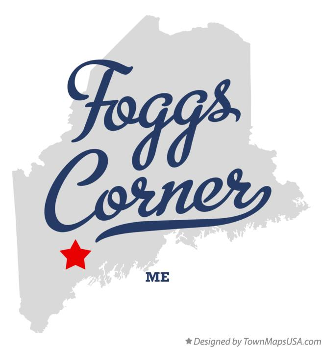 Map of Foggs Corner Maine ME