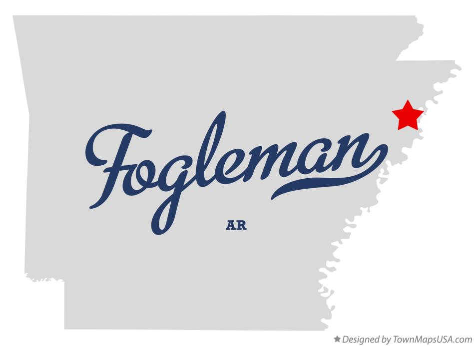 Map of Fogleman Arkansas AR