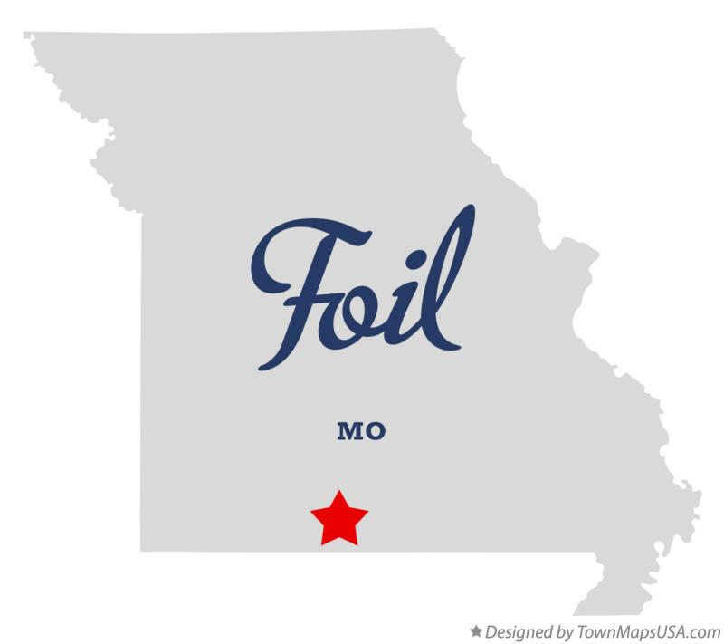 Map of Foil Missouri MO