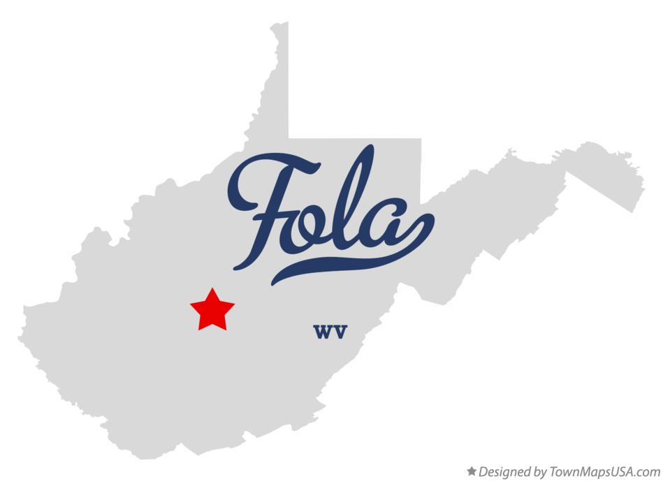 Map of Fola West Virginia WV