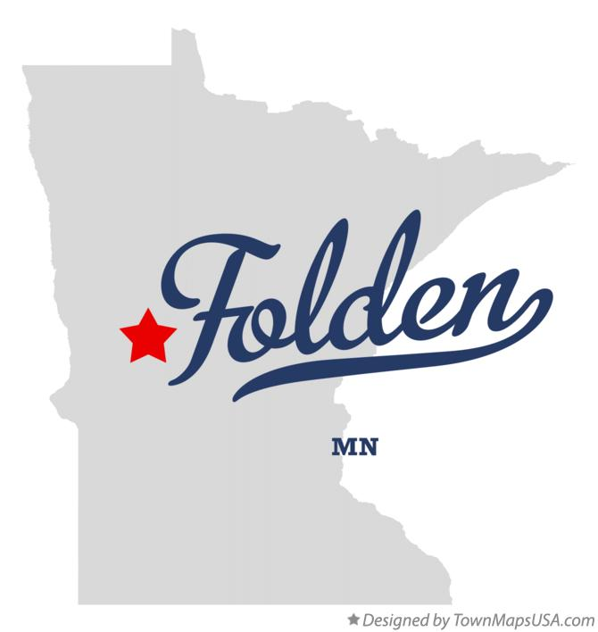 Map of Folden Minnesota MN