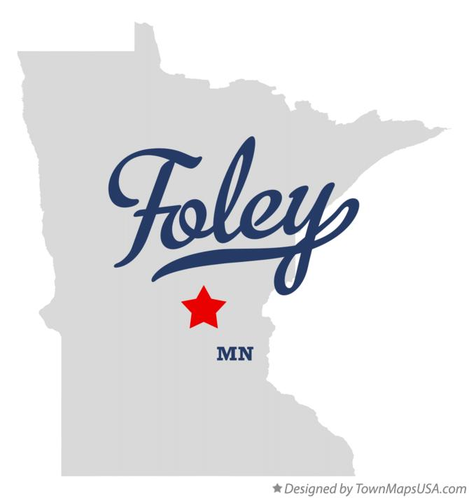 Map of Foley Minnesota MN