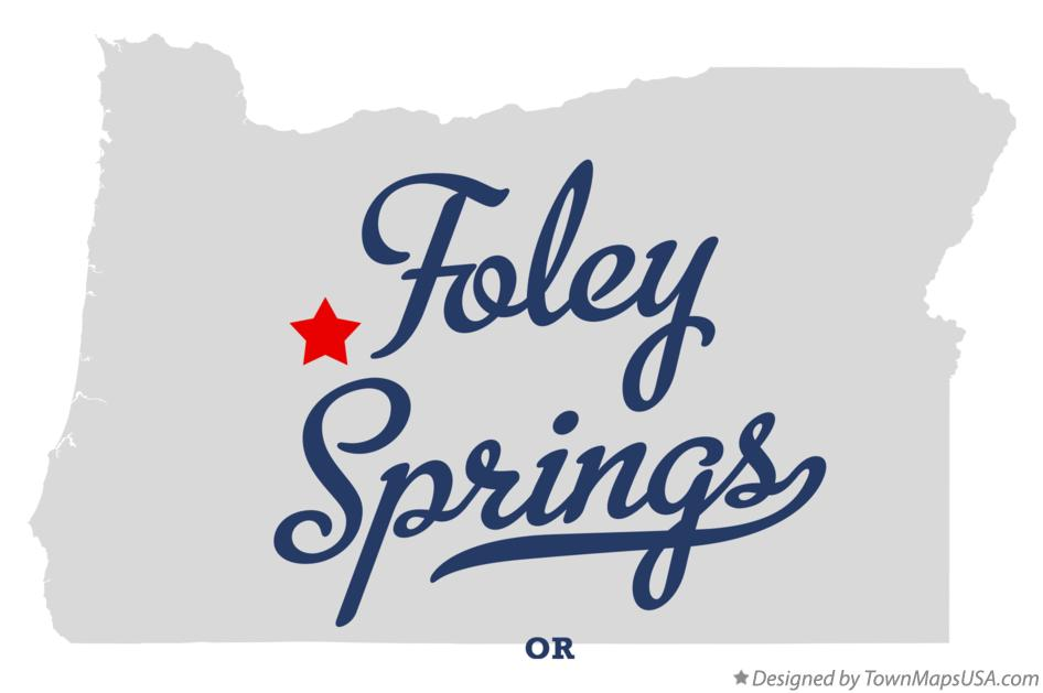 Map of Foley Springs Oregon OR