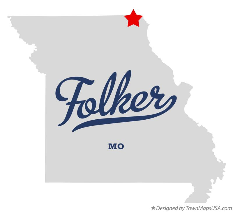 Map of Folker Missouri MO